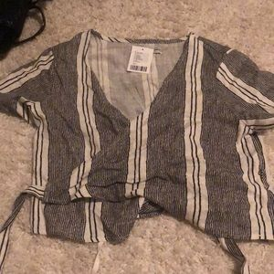 Urban Outfitters wrap tie cropped top